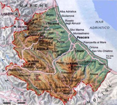 Cartina Dell Umbria Fisica.Le Regioni D Italia