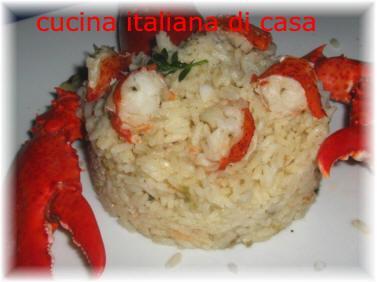 Risoc con astice ricetta con foto ricette di cucina italiana di casa - Cucina italiana di casa ...