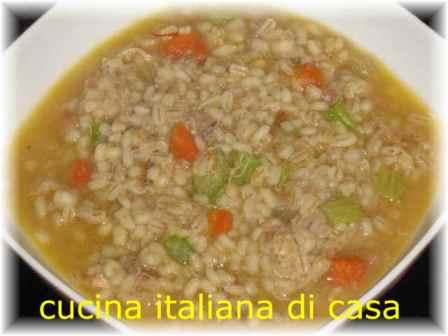 Zuppa di orzo e cappone ricetta con foto ricette di for Cappone ricette cucina italiana