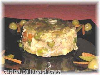 Terrina di pollo e cappone in gelatina ricetta con foto di for Cappone ricette cucina italiana