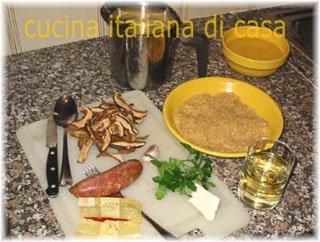 Risotto ai funghi secchi ricetta fotografata di cucina italiana di casa - Cucina italiana di casa ...